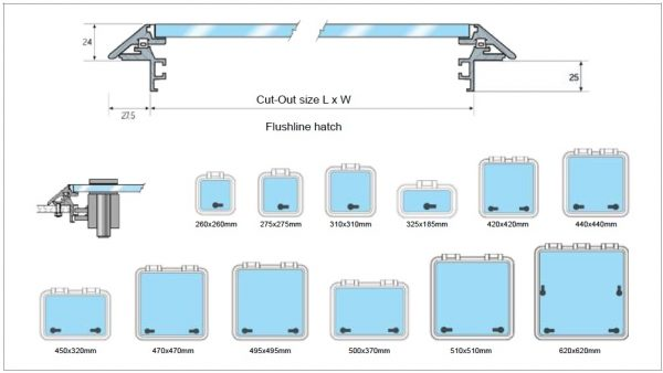 Flushline Deckhatches